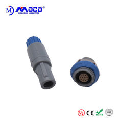 Male And Female Medical Plastic Push Pull Connectors For Patient Monitor 12 Pin 1P Series