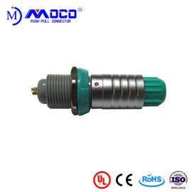 Green Nut Medical Plastic Push Pull Connectors Metal Shell M14 Multipole
