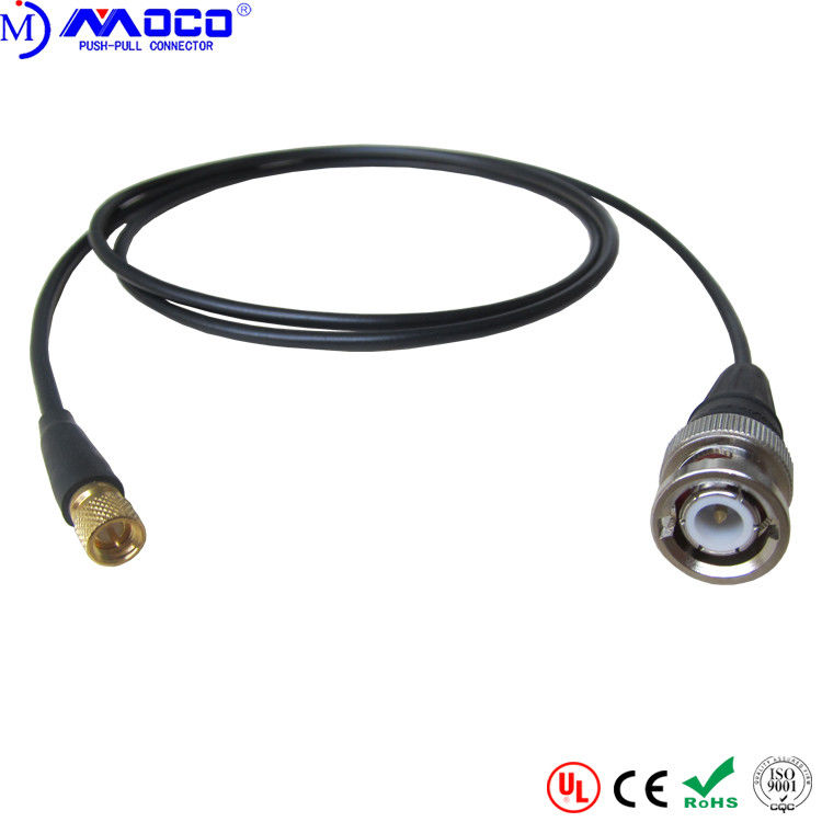 Durable Push Pull Cable Assemblies Microdot To BNC Cable For NDT System