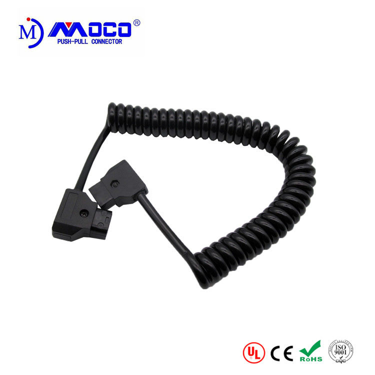 Coiled D Tap To D Tap Power Cable , Pre Made Cable Assemblies Eco Friendly