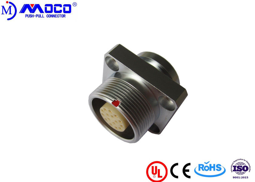Customized M18 15 Pin Round Connector , Female Watertight Cable Connector