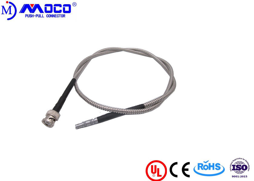 Lightweight Custom Cable Assemblies  00S To BNC Coaxial Cable For NDT