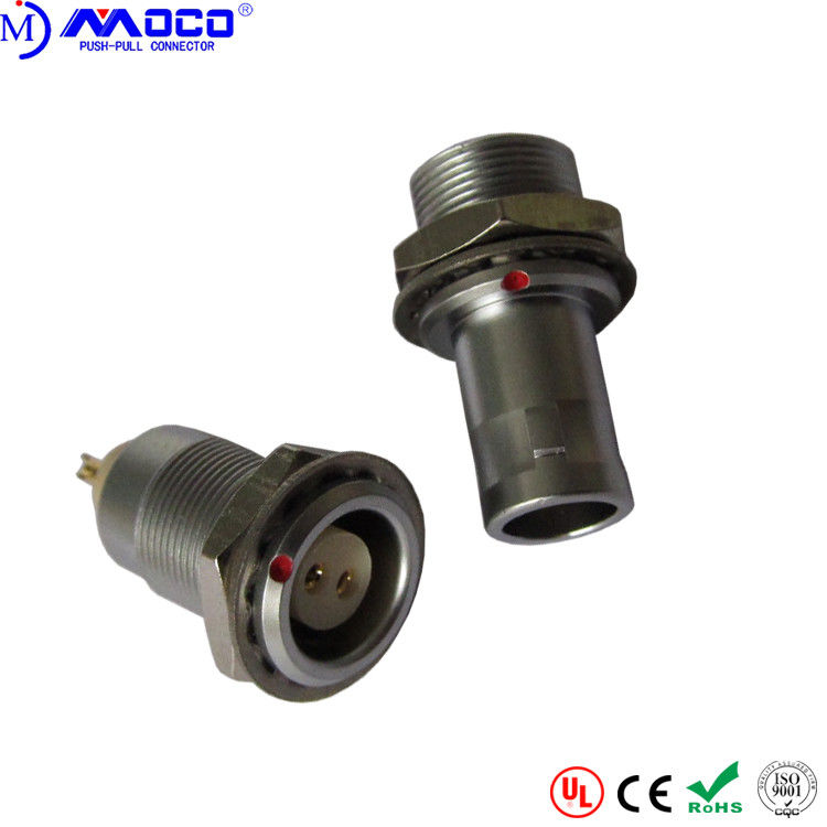 Female Quick Release Metal Circular Connectors With Panel Mount PPS Insulator