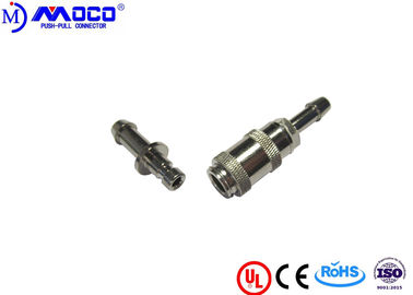 China Snap Blood Pressure Metal Circular Connectors , Self Locking Push Pull Connector factory