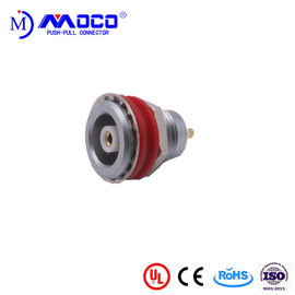 China Compatible 1S 120 Push Pull Electrical Connectors Receptacle With Red Crash Pad factory
