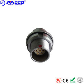China Vacuum Tight  0B 7 Pin Circular Connector , Back Panel Mount Circular Connector factory