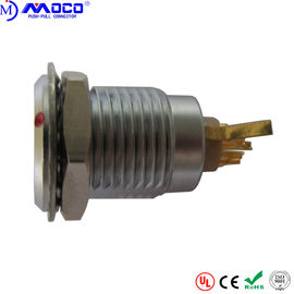 China Metal Circular Push Pull Connectors ENG 6 Pin M15 Receptacle With Earthing Tag factory