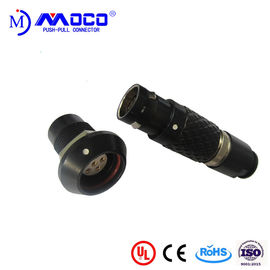 China M12 7 Pin Wire To Board Push Pull Electrical Connectors Black Chrome Plated factory