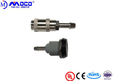 China Female Bayonet Luer NIBP Cuff Connectors Circular Type Metal And Plastic Gas Way factory